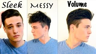 Mens Hair: 3 Different Styles