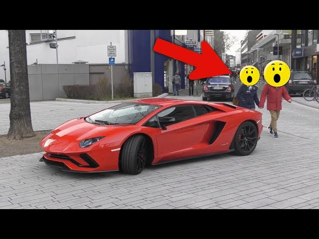 Lamborghini Aventador S - People's Reactions in Düsseldorf!