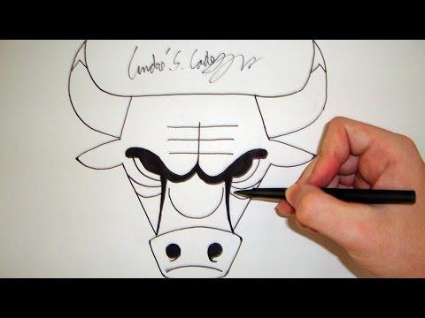 Como Desenhar a logo Chicago Bulls NBA How to Draw Chicago Bulls logo SLAY DESENHOS 46