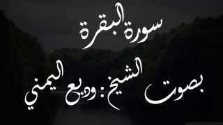 سورة البقرة بصوت الشيخ وديع اليمني - مكررة - تلاوة خاشعة وجميلة