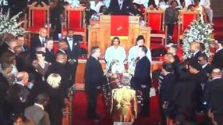 Funeral: Whitney Houston's casket leaves church, Ray J cries, breaks down