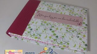 Mini album acordeón scrapbooking con sobres para San Valentín