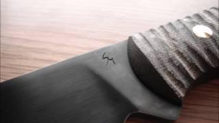 Very short pics preview of my new custom heavy hunter knife