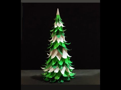 Paper Christmas tree. Easy to do !
