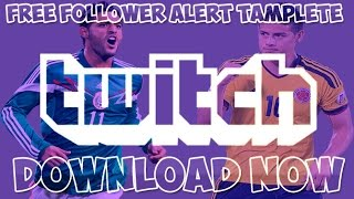 Twitch TV Follower Alert Template Free PSD File Download