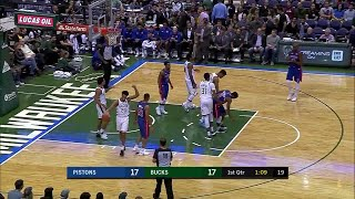 Quarter 1 One Box Video :Bucks Vs. Pistons, 10/12/2017
