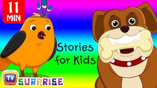 Two Bedtime Moral Stories for Kids in English - Birds & Hunter + Dog & Bone - ChuChu TV Surprise