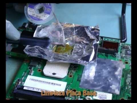 Reballing Laptop por vct5045 Reparación Error de video en Portátiles