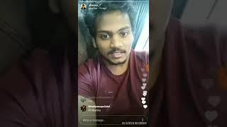 Shanmukh jahwanth live video  in Instagram