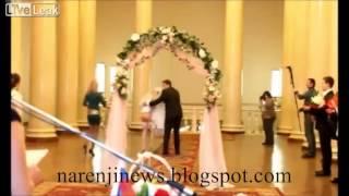 اسکول بازی عروس بعد از در آمدن دامنش