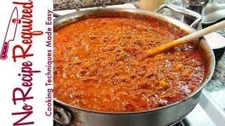 Bolognese Sauce - Spaghetti Sauce - NoRecipeRequired.com
