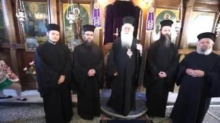 Greek Orthodox Elder Women chant to their Bishop, Great Tuesday