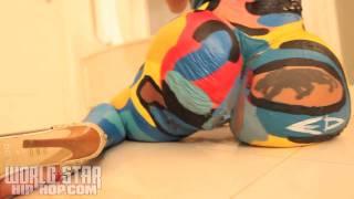 Cubana Lust Body Paint Dancing To Travis Porter Single AYY LADIES