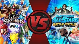 Super Smash Bros VS PlayStation All-Stars Animation (Nintendo vs Sony) AnimationRewind