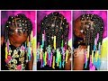 Download Video Download Twists Are More Fun With Rainbow Beads | 4a Natural Hair After Wash Hairstyle 3GP MP4 FLV