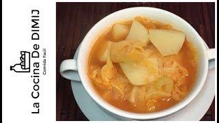 Sopa de papas 🥔 y con col o repollo