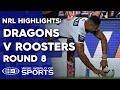 Download Video Download NRL Highlights: St George Illawarra Dragons v Sydney Roosters - Round 8 3GP MP4 FLV
