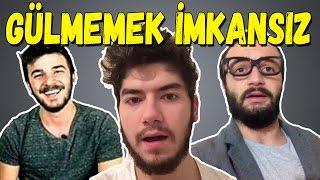 KOMİK VİDEO İZLEYEREK GÜLMEME! (başaramadık) - Aykut Elmas,Atakan Özyurt,Fatih Yasin