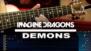 Imagine Dragons - DEMONS Guitar Tutorial | TABS Cristianvib