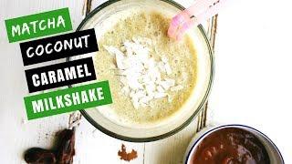 Matcha Coconut Caramel Milkshake