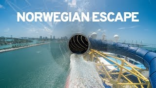 WATER PARK ON A CRUISE SHIP: Norwegian Escape (All Slides POV)