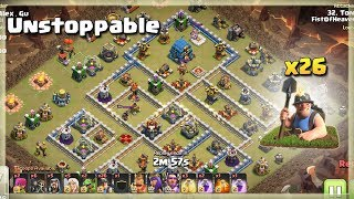 26 Miners= Unstoppable | TH12 War Strategy #89 | COC 2018 |