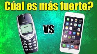Nokia 3310 Prueba Durabilidad y Resistencia - Comparación con iPhone 6 Plus