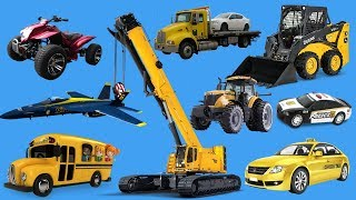 Cars for Kids | Learning Street Vehicles Names | Learn Vehicles with Ninja Turtle Toys for Children