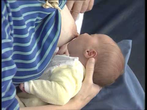 IMCI training video: Exercise D - Correct positioning and attachment for breastfeeding