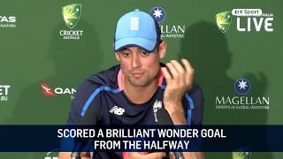 Alastair Cook responds to Nathan Lyon's pre-Ashes sledging