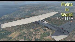 X-Plane 11 - Flying in World - LIER to LIEA in Italy #10 [VATSIM]