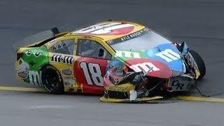 NASCAR Kyle Busch crashes at Kansas   Kansas Speedway (2013)