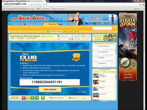 Club Penguin Pegando código de assinatura