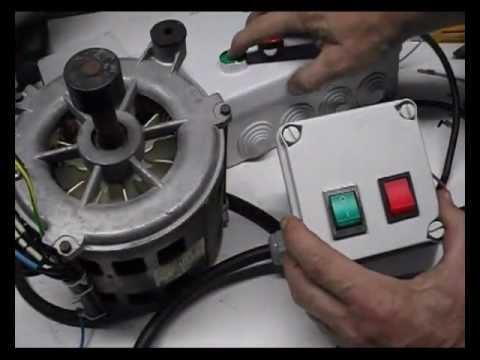 Cómo conectar un motor de lavadora con interruptores. 1