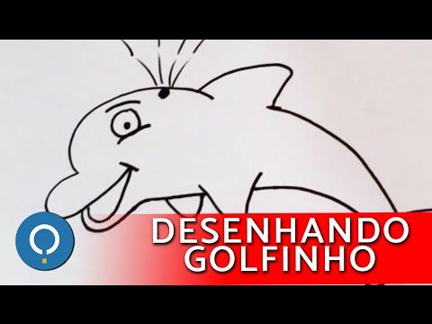 Como desenhar um golfinho animado