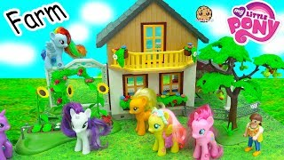 My Little Pony Visit + Help Destroyed Playmobil Farm - MLP Toy Play Video