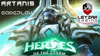 Heroes of the Storm (Gameplay) - Artanis Damage Build (HotS Artanis Gameplay Quick Match)