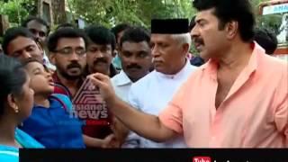 Stray dog attack victim Devanandan visits Mammootty