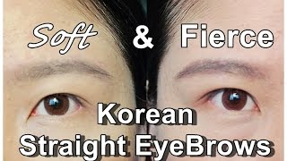How to Draw and Shape Korean Straight Eyebrows Tutorial