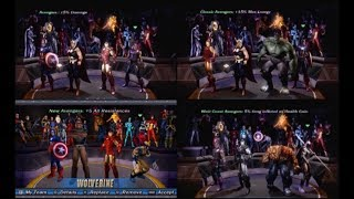 Marvel: Ultimate Alliance - Team Bonuses (PSP, Next-Gen, and X-Box 360 DLC Team Bonuses Included)