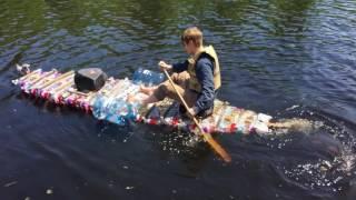 Plastic Bottle Boat Launching Pt.2