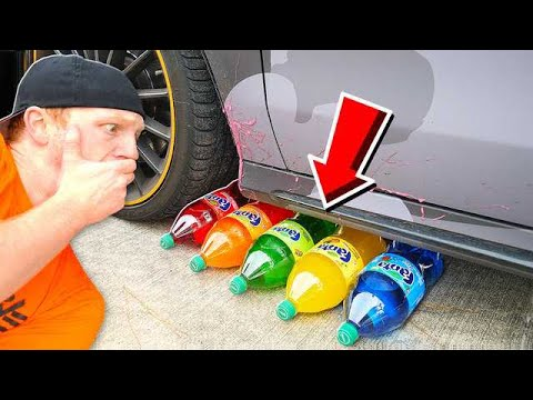 CRUSHING SODA WITH MY CAR CRUNCHY SOFT SQUISHY AND MORE