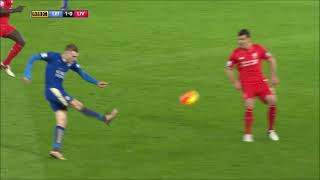 Jamie Vardy's Incredible Goal Against Liverpool ● 2016 HD