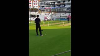 Mustafiz bowling in nets