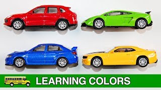 Learning Colors Toy Cars & Trucks for Kids Learn Colours Street Vehicles Hot Wheels Matchbox Tomica