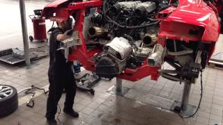 Audi R8 V10 Engine and fuel tank removal
