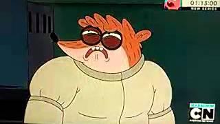 Regular Show: Sleepwalking Muscle Man beats up Rigby