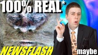NEWSFLASH! Real Bigfoot Captured & Naked Guy Gets Stuck in Washing Machine