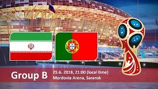 World cup 2018. Game 36 of 64. Iran vs Portugal