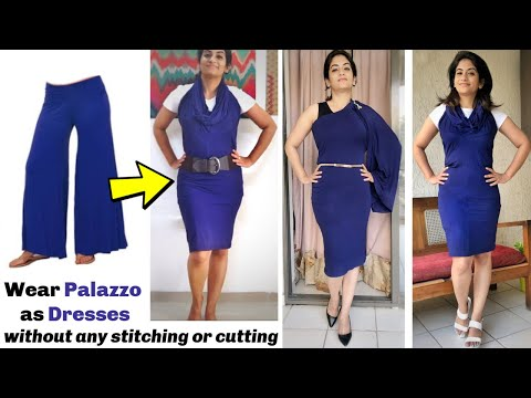Xxx Mp4 Wear A Palazzo As Stylish Dresses In Just 2 Minutes Without Any Stitching Or Cutting Very Easy DIY 3gp Sex